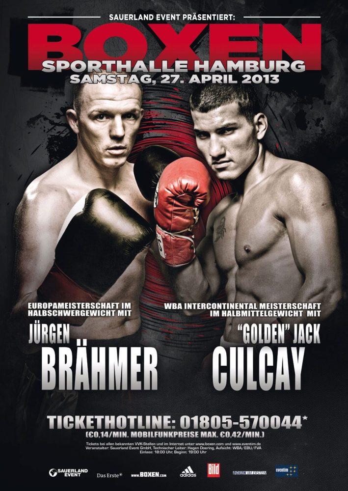 Brähmer und Culcay boxen in Hamburg am 27.04.2013