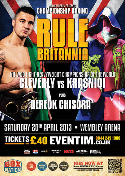 Cleverly vs Krasniqi headlines Wembley Arena at 20.04.2013