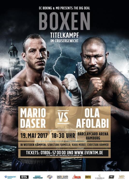 Daser vs. Afolabi-Plakat