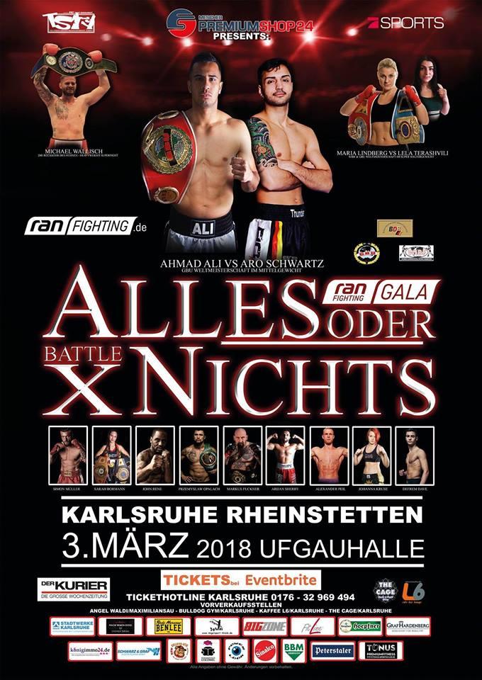 Alles oder Nihts, Karlsruhe 03.03.2018
